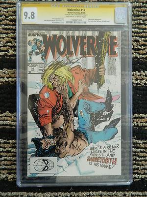 Wolverine 10 Aug 1989 Marvel CGC 98 Signature series