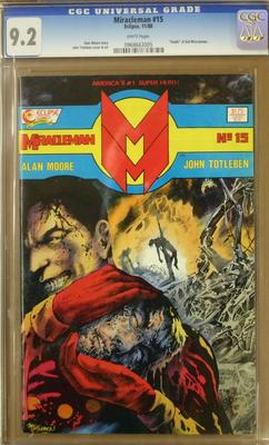 MIRACLEMAN 15 1988 CGC 92  Alan Moore  White Pages  No Reserve