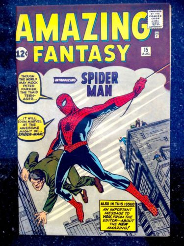 Amazing Fantasy 15 1 SpiderMan Comic Book 1962 NM 94  R CGC CBCS it Hulk 181