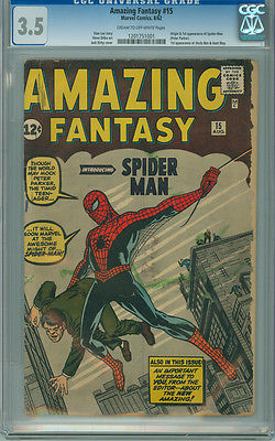 Amazing Fantasy 15 CGC 35 VG Marvel 1962 1st Appearance Spiderman SA GRAIL