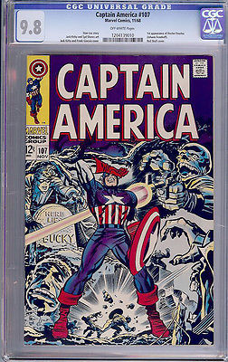 Captain America 107 CGC 98 CANARSIE PEDIGREE 1968 JUST 1 NMMT EVER SOLD HITLER