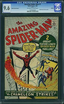 Amazing SpiderMan 1 CGC 96 Near Mint Marvel 1966 GRR Golden Record C9 114 cm