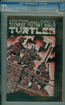 Teenage Mutant Ninja Turtles 1 CGC 75 1st App of TMNT Eastman HTF FIRST PRINT