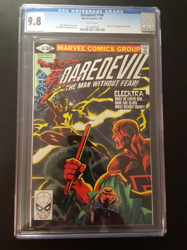 Marvel Daredevil  168 CGC 98 1st App Elektra Netflix KINGPIN LUKE CAGE FIST
