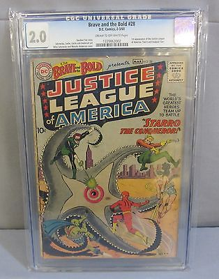 THE BRAVE  THE BOLD 28 1st Justice League and Starro CGC 20 DC Comics 1960