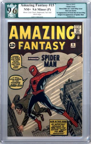 Amazing Fantasy 15 PGX 96 WHITE Pages SP AF15 Key Not CGC CBCS ASM No Reserve