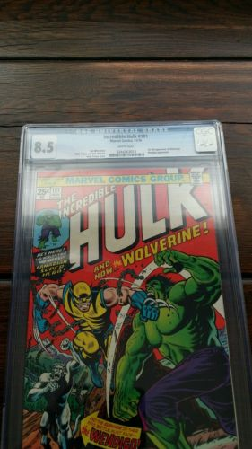 INCREDIBLE HULK 181 1974CGC GRADED 85 Bright White pages  1st WOLVERINE