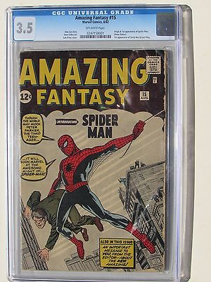 AMAZING FANTASY 15 Aug 1962 Marvel  CGC 35  1ST APPEARANCE OF SPIDERMAN