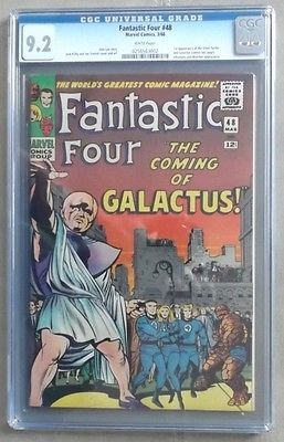 Fantastic Four 48 CGC92 WHITE PAGES KEY ISSUE 1st app SILVER SURFER  GALACTUS