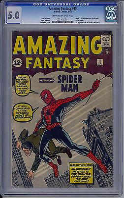 Amazing Fantasy 15 CGC 50 1st Spider Man WOW