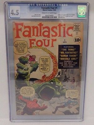 Marvel Comics FANTASTIC FOUR 1 CGC Graded 45 1961 Vintage Comic