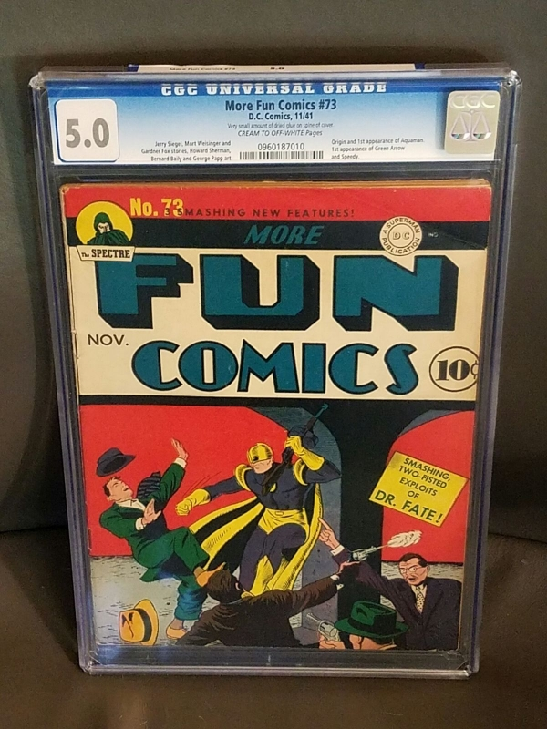 More Fun Comics 73 CGC 50 OWW  1st Aquaman Green Arrow  Speedy HOT BOOK
