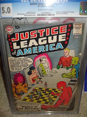 Justice League of America 1 CGC 50 DC 1960 102 cm
