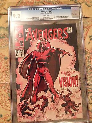 The Avengers 57 CGC 92 First Vision White Pages