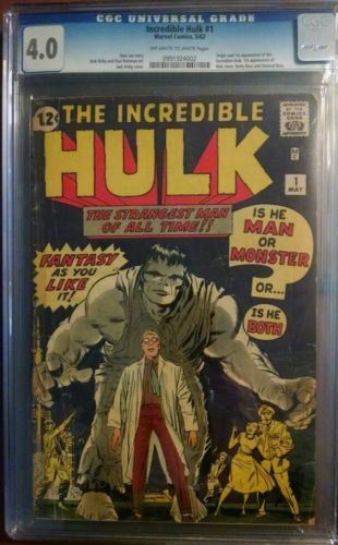 Incredible HULK 1 1st app 40 graded cgc