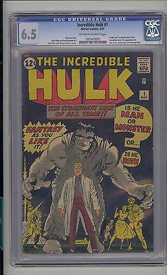 Incredible Hulk 1 CGC 65 FN Marvel 1st Banner Thunderbolt  Betty Ross OWW