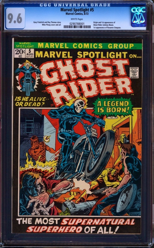 Marvel Spotlight 5 CGC 96 NM White Pages Marvel Comics 872 1st Ghost Rider
