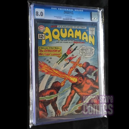 AQUAMAN 1960 1 CGC 80 OffWhite CARDY Cover MOVIE Coming DC Comics KEY VF