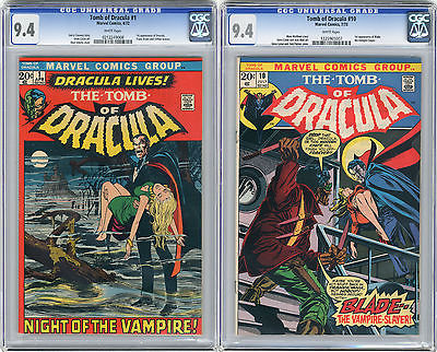 1973 Tomb of Dracula 1  10 CGC 94 1st Blade White Pages