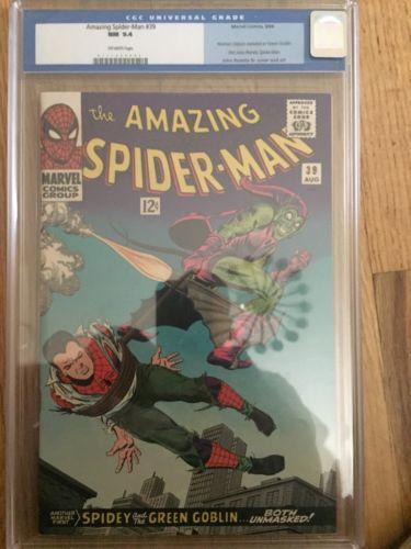 The Amazing SpiderMan 39 Aug 1966 Marvel CGC 94
