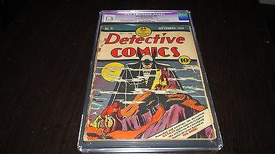 Detective Comics 31 DC Comics Golden Age 1939 Classic Cover 1st Monk CGC 15