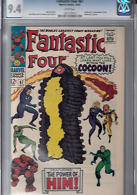Fantastic Four 67 Oct 1967 Marvel CGC 94 NM   white pages   1st WARLOCK