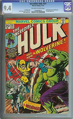 INCREDIBLE HULK 181 CGC 94 OWWH PAGES  1ST FULL APPEARANCE OF WOLVERINE