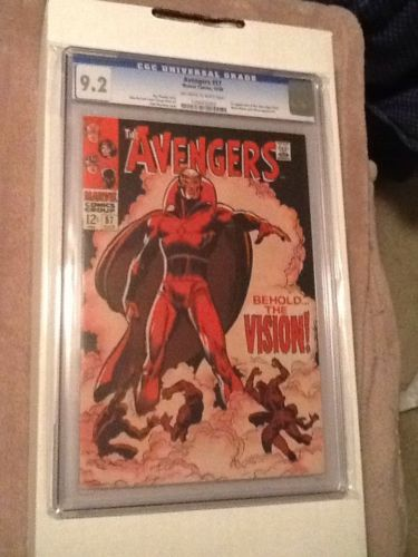 The Avengers 57 Oct 1968 Marvel CGC 92 Offwhitewhite Pages First Vision