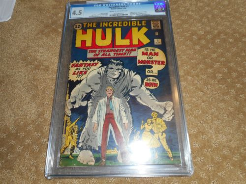 The Incredible Hulk Marvel Comic 1 May 1962 CGC Universal Grade 45