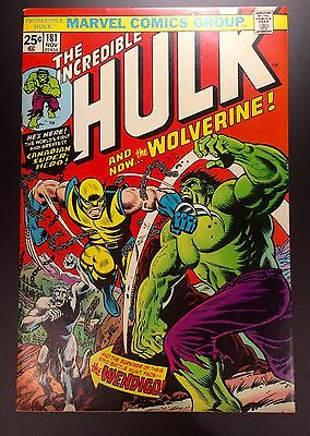 Incredible Hulk 181  1st Appearance Wolverine  Marvel Comics 1974  CGC IT