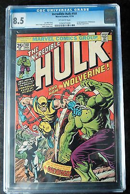 Incredible Hulk 181  1st Full Appearance of Wolverine CGC 85