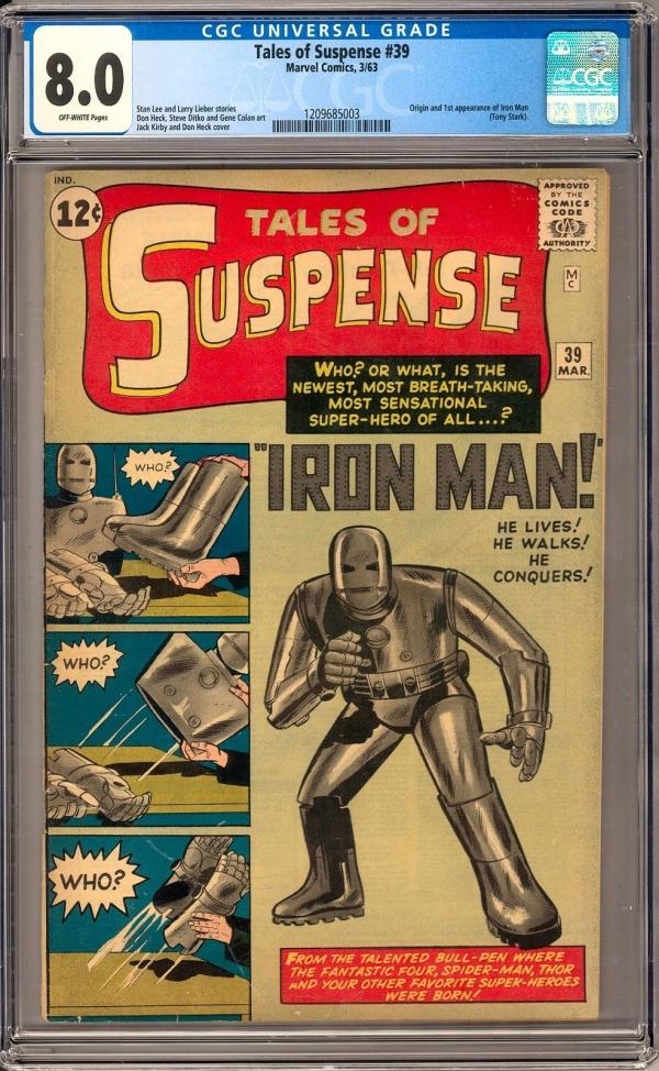 Rare Collectors Comics Tales Of Suspense 39 Cgc 80 Ow