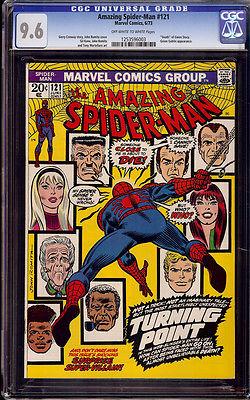 Amazing Spiderman 121 CGC 96 1973 Death Gwen Stacy Green Goblin D9 123 1  cm