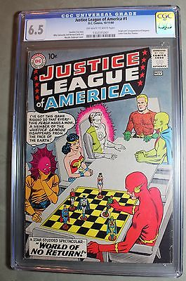 JUSTICE LEAGUE OF AMERICA 1 DC Comic 1st Issue CGC 65 October 1960  KEY ISSUE