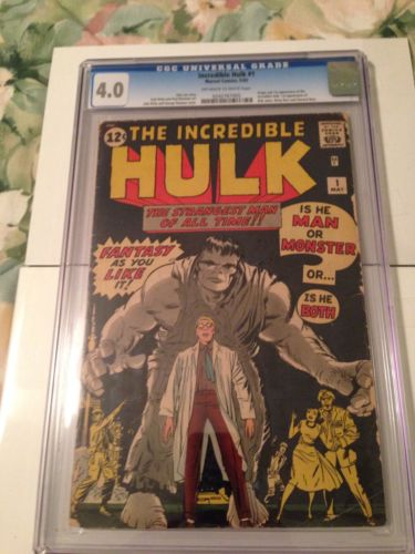Hulk 1 CGC 40Off White to White Pages  First Incredible Hulk