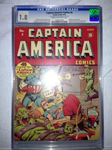 Captain America Comics 4CGC 18 Universal CROWSchomburg Cover Kirby Art