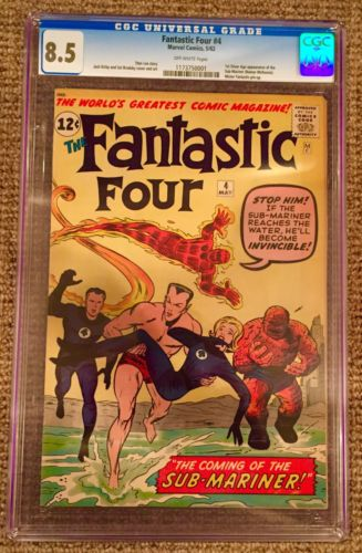 Fantastic four CGC 85 1st Silver Age Namor SubMariner RARE No Reserve