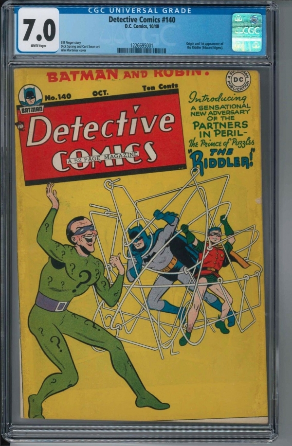 Detective Comics 140 CGC 70 WHITE PAGES