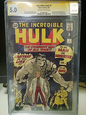 Incredible Hulk 1 CGC 50 Signature SeriesSilver Age Key Marvel