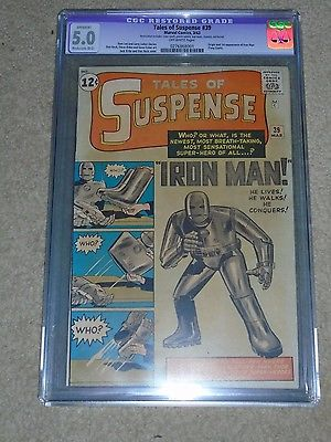 Marvel Tales of Suspense 39 CGC 50 Apparent B3 OW SUPER KEY 1st Iron Man