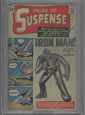 TALES OF SUSPENSE 39 0363 CGC VG 40 1ST APP IRON MAN
