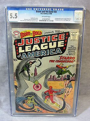 THE BRAVE  THE BOLD 28 1st Justice League and Starro CGC 55 DC Comics 1960