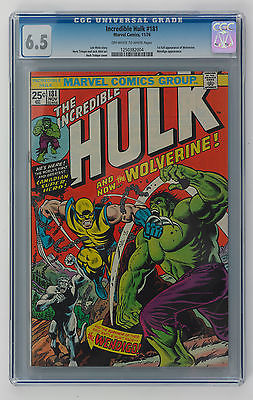 THE INCREDIBLE HULK 181 CGC 65 OWW 1ST FULL APPEARANCE OF WOLVERINE NICE