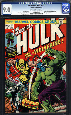 Incredible Hulk 181 CGC 90 VFNM 1st Wolverine