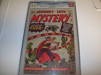 JOURNEY INTO MYSTERY  83 CGC 30 OWW Lee Kirby Marvel Thor 1962 1st  THOR LOOK