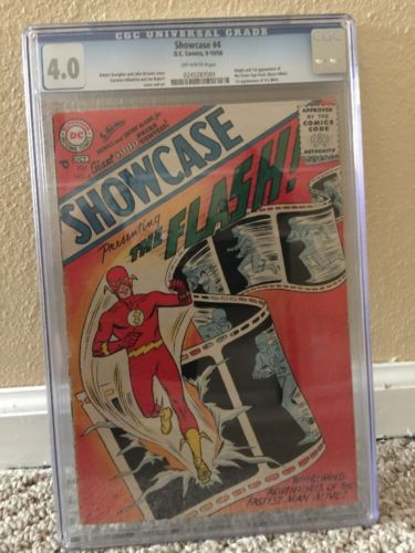 Rare Collectors Comics | Showcase 4 Cgc 40 Ow Pages First Flash Mega Key