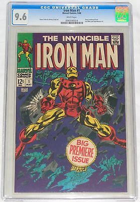 Iron Man 1 May 1968 CGC 96 White Pages Blue Label Marvel No Reserve Avengers