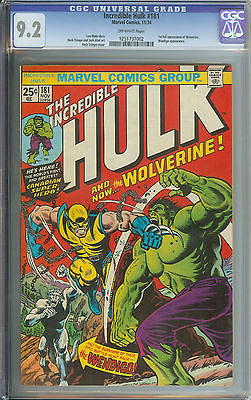INCREDIBLE HULK 181 CGC 92 OW PAGES  FIRST FULL APPEARANCE OF WOLVERINE