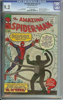 AMAZING SPIDERMAN 3 CGC 92 OWWH PAGES  1ST APPEARANCEORIGIN DR OCTOPUS