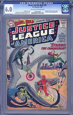 THE BRAVE AND THE BOLD 28 CGC 60 1ST APPEARANCE JUSTICE LEAGUE OF AMERICA